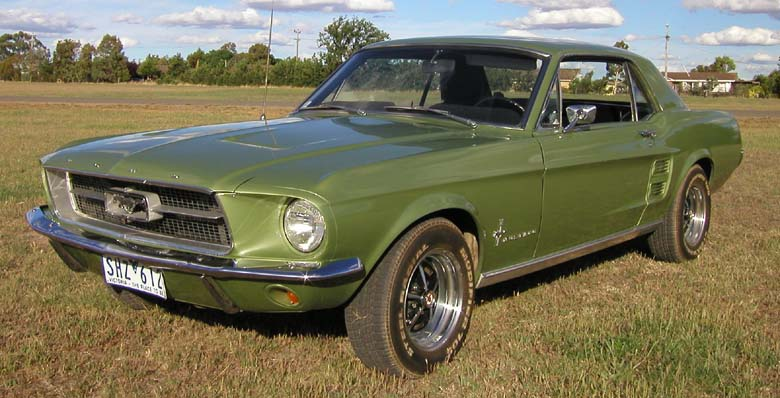 1967ford mustang coupe v8 auto - 1967 Ford Mustang Coupe Green