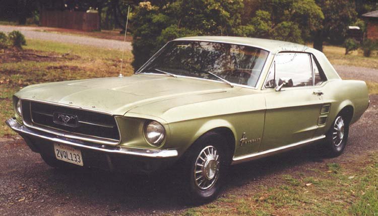 click to enlarge front 1967 mustang coupe