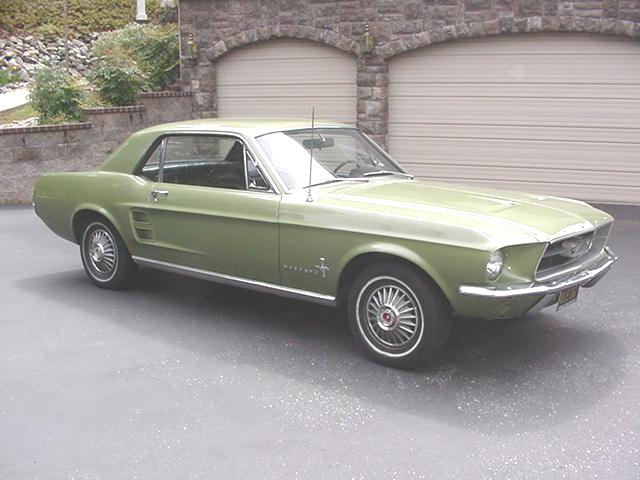 just mustangs - 1967 Ford Mustang Coupe Green
